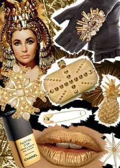 Cleopatra, the original Golden Girl! Diy Fashion, Fashion Beauty, Fashion Design, Hijab Fashion Inspiration, Shades Of Gold, Fashion Portfolio, Fashion Project, All That Glitters, Cleopatra