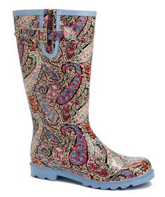 Paisley wellies.