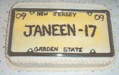 16 License Plate Cake | License Plate On The Motorbike Coloring Page Super  Picture