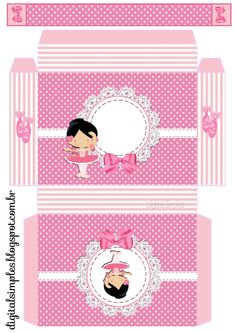 "maletinha para lembrancinha  Kit de Personalizados Tema ""Bailarina Rosa"" para Imprimir - Convites Digitais Simples"