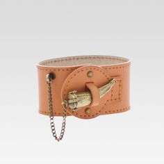 SIGNATURE HORN LEATHER BRACELET ~ Etienne