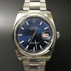 Rolex Datejust 116200 Blue Index. #watchporn #watchmania #wristwatch #watchoftheday #timepiece #secondhand #instawatch #secondoriginalwatch #jamtanganseken #preownedwatch #luxurywatch. www.mulialegacy.com