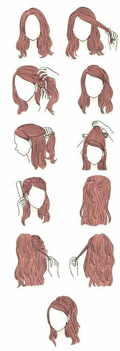 Frisuren Coiffure for varsity, Article Physique: Listed here are a number of suggesti Cute Simple Hairstyles, Braided Hairstyles, Hairstyle Short, Hairstyle Wedding, Hair Wedding, Trendy Hairstyles, Fringe Hairstyle, Half Updo Hairstyles, Fashion Hairstyles