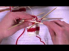 Näin neulot raitojen värinvaihtokohdan huomaamattomasti - YouTube Wool Socks, Knit Mittens, Knitting Videos, Needle Felting, Knit Crochet, Sewing, Pattern, How To Make, Crafts