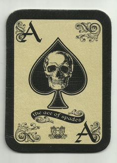 LEATHER ACE of Spades DEATH Card morale patch