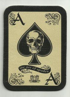 LEATHER ACE of Spades DEATH Card morale patch