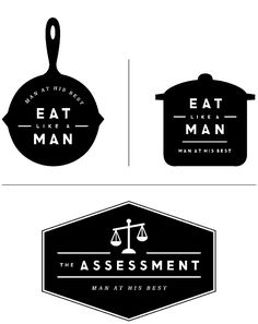 section logos for Esquire USA by Erin Jang