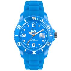 Ice-Watch Watch, Women's Ice-Flashy Neon Blue Silicone Strap 43mm... ($99) ❤ liked on Polyvore