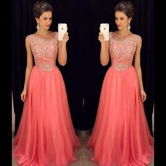 2016 New Sexy Sheer Cap Sleeves Chiffon Floor Length Prom Dresses Beaded Crystals Top Tulle Elegant Evening Gowns Prom Dress Outlet Prom Dress Shoes From Enjoyweddinglife, $129.83| Dhgate.Com