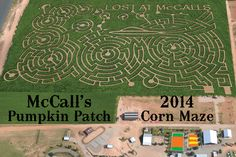 "McCall's Pumkin Patch 2014 Corn Maze ""Lost at McCalls"" Activities Took my kids Today!  Loved it"