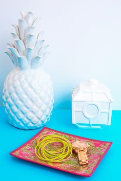 Lilly Pulitzer Medium Glass Catchall Tray-Jungle Tumble - Lilly Pulitzer - Brands - Home & Office