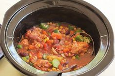 Slow Cooker Bean Burgoo | 5 Smart Points per cup | skinnyms.com