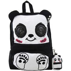 Banned Goth Punk Rock Emo Panda Music Speaker Backpack