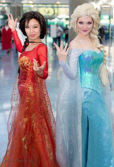 Fire and Ice Elsa by cindyrellacosplay.deviantart.com [ Swordnarmory.com ] #cosplay #anime #swords