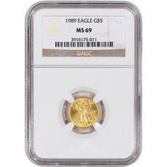 1989 American Gold Eagle (1/10 oz) $5 - NGC MS69