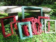 ornate spray painted frames