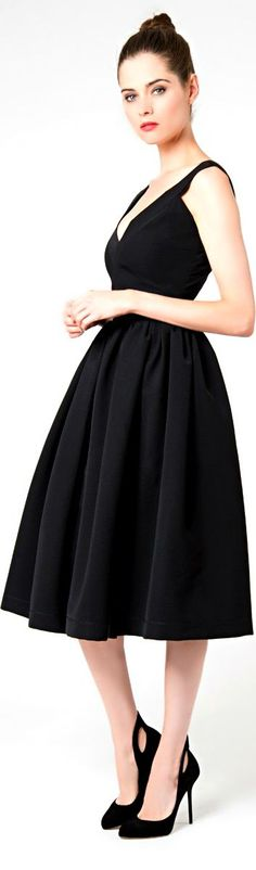 black kocktail dress by Thornton Bregazzi