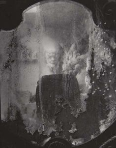 billyjane:    …everything around us, dead or alive, in the eyes of a crazy  photographer mysteriously takes on many variations, so that a seemingly  dead object comes to life through light or by its surroundings… To  capture some of this - I suppose that's lyricism.   Josef Sudek  Mirror with Reflection from Labyrinths series,1948