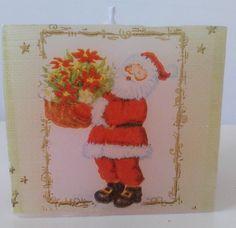 Vela quadrada com découpage tema natalino.