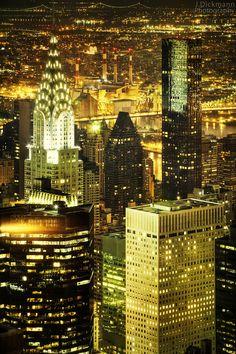 NYC. City of Gold  // by Jörg Dickmann