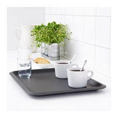 IKEA - FUNGERA, Bandeja, Apta para el lavavajillas. Mantenimiento fácil y práctico.La forma de los bordes permite sujetar y llevar la bandeja con seguridad y comodidad.