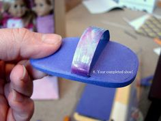 Doll Craft - Make Your Doll Flip Flops!  Easy and Cheap American Girl Shoes DIY