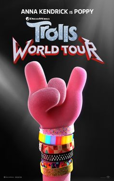 High resolution official theatrical movie poster ( of for Trolls World Tour [aka Trolls Image dimensions: 1895 x Starring Justin Timberlake, Anna Kendrick, Sam Rockwell Anna Kendrick, Justin Timberlake, Theme Color, Christopher Robin, Los Trolls, Tour Posters, Movie Posters, Films Netflix, 3d Cinema