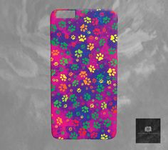 Paw Print iPhone 6 Case Rainbow Dog Paw Print Rainbow iPhone 6 Case Printed iPhone 6 Plus case Slim iPhone 6S Plus Cover Artist Designed by DawnMercerPhoto on Etsy