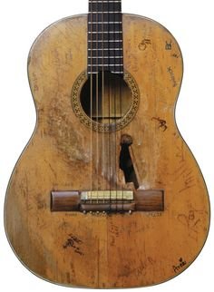 Willie Nelsons Martin guitar, has been rebuilt several times from the inside out.