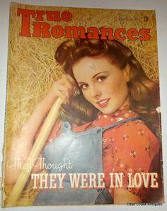 True Romances September 1944 Vintage Romance Magazine by OtterCreekAntiques