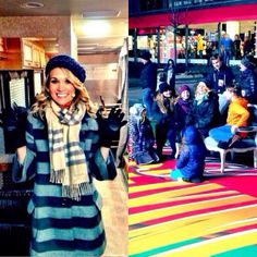 Carrie rehearsing for Macy's Parade with Sound of Music cast