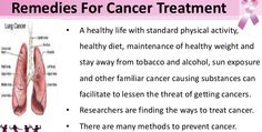 Remedies For Cancer Treatment.
