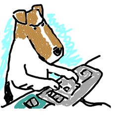 A take-off on a New Yorker Cartoon: On the Internet no one knows you're a dog!