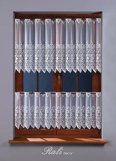 Antonie, bílá záclona výška 70cm metráž - RALI Decor, s.r.o. - bytový textil, záclony a povlečení