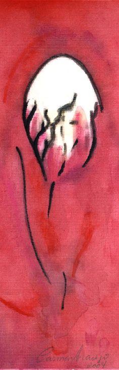 """""""Vênus 9"""" - Aquarela. Projeto """"Delta Z"""". Setembro 2004. Arte Erótica."""