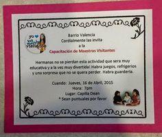 Ayudas para la Sociedad de Socorro y Maestras Visitantes SUD: Capacitación de Maestras Visitantes