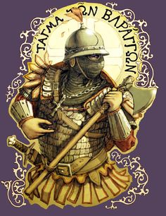 High Medieval Varangian Guard by LordGood Medieval Knight, Medieval Fantasy, Ancient Rome, Ancient History, Byzantine Army, Varangian Guard, Character Art, Character Design, Larp Armor