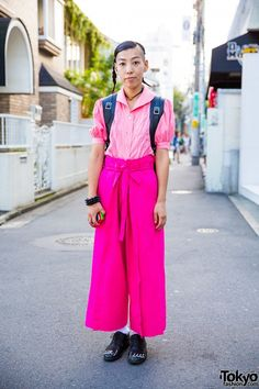 Harajuku Girl in All Pink Comme Des Garcons Style