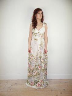 floral beach wedding dresses