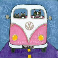 Ryan Conners' Cat Folk Art: Search results for Cat Crazy Cat Lady, Crazy Cats, Combi Hippie, Cat Quilt, Cat Cards, Cat Drawing, Cats And Kittens, Kitty Cats, Cartoon Drawings