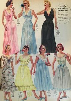 a45c39f72b 1950s nightgowns. Long or tea length