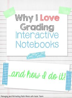 Grading Interactive Notebooks Visit Managing and Motivating Math Minds with Kacie Travis Interactive Student Notebooks, Science Notebooks, Interactive Books, Interactive Activities, Reading Activities, Therapy Activities, Teaching Science, Teaching Ideas, Teaching Time