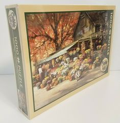Cobble Hill AUTUMN MARKET Fall Jigsaw Puzzle NEW. #fall #autumn #jigsawpuzzles
