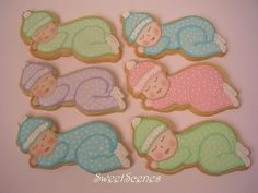Baby Shower Cookies make cute Baby Shower Favors