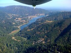 Lexington Reservoir, Santa Cruz Mountains. I flew over the mountains in a small plane, back in 68...Gorgeous from the air