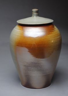 SALE!!!! 25% off all covered jars. Check out the Etsy Store .www.etsy.com/shop/JohnMcCoyPottery. Clay Covered Jar Wood Fired Ginger Jar Q32 by JohnMcCoyPottery, $135.00