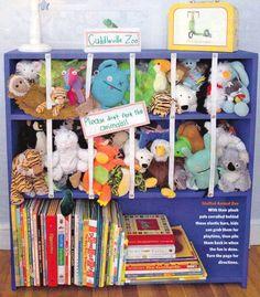 Cute way to store stuffed animals  (BHG magazine)