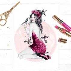 'Nectar', by Fashion Illustrator Cristina Alonso.