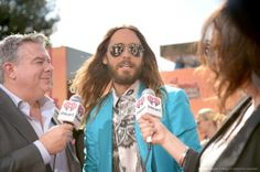 Jared Leto.- Thirty Seconds To Mars at iHeart Radio Awards, L.A..- 01-05-2014
