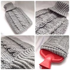 Ravelry: Cozy Cable Hot Water Bottle Cover pattern by Ling Ryan
